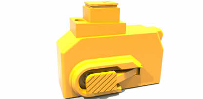 Yellow HPA CNC M4 adapter kit for hicapa GBB pistols